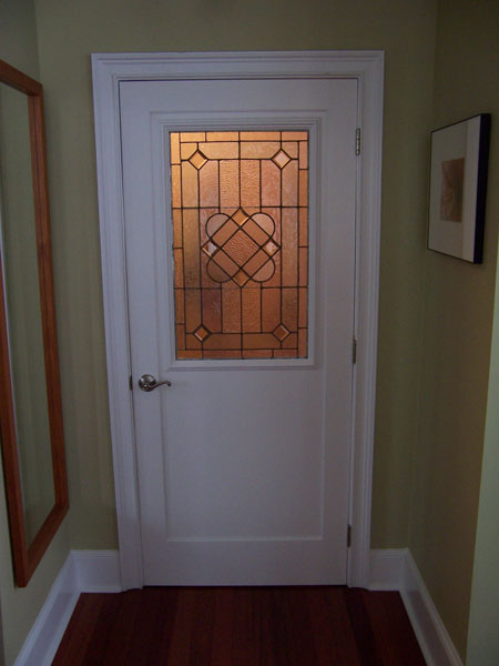 Yeager woodworking custom doors historic doors and entryways door with stained glass planetlyrics Choice Image