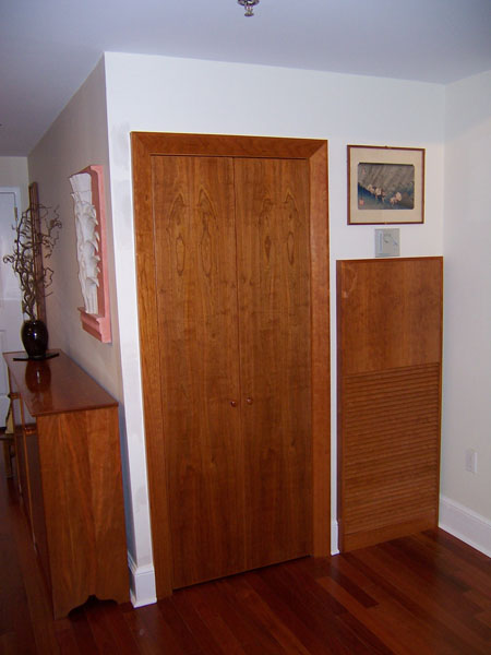 Cherry interior closet Door