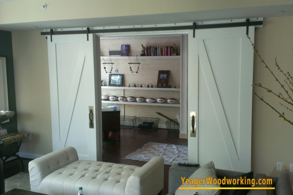 hanging barn doors on sliding track