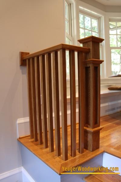 White Oak Handrail, Newels And Balusters