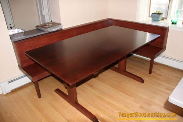 Built in table and bench 28 images yeager woodworking for Built in dining table