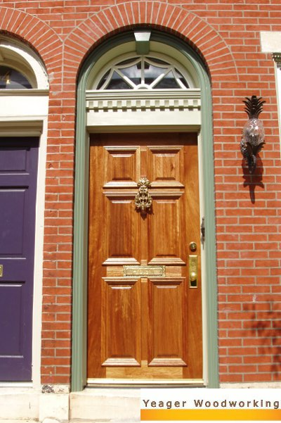 Mahogany Entry Doors & Yeager Woodworking - Custom Doors Historic Doors and Entryways
